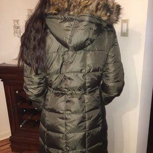Michael Kors Faux-Fur Trim Down Coat
